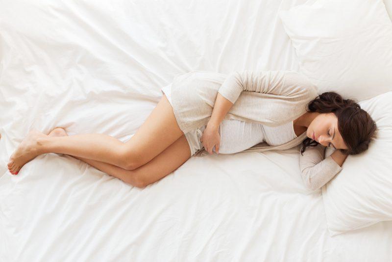 妊娠末期の女性(産前)
