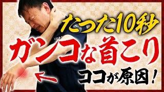 【首こり解消ストレッチ】10秒スッキリ!ガンコな首コリ劇的改善
